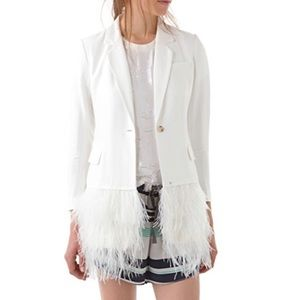 Elizabeth and James ostrich feather jacket